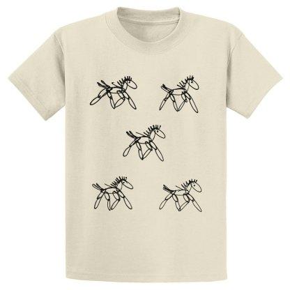 UniSex-SS-Tee-natural-running-horses