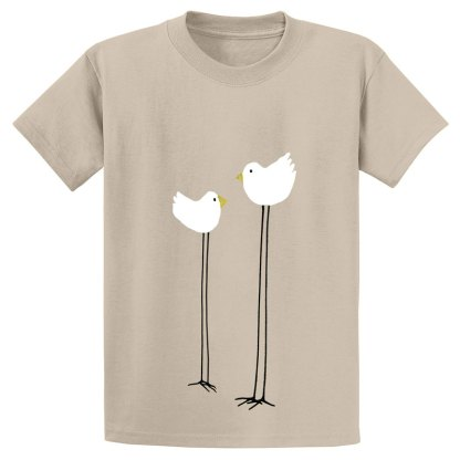 UniSex-SS-Tee-tan-long-legged-birds