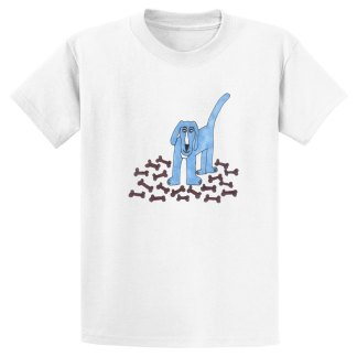 UniSex-SS-Tee-white-blue-dog