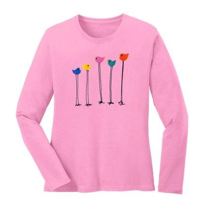 LS-Tee-pink-multi-bird-row