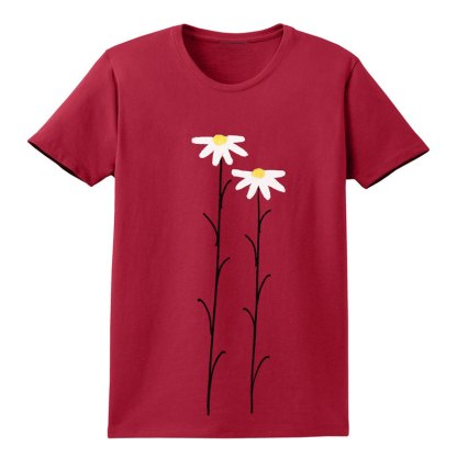 SS-Tee-red-WhtDaisies