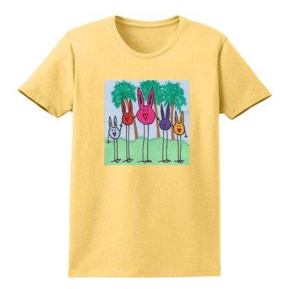 SS-Tee-yellow-bird-bunny-family