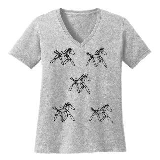 V-Neck-Tee-grey-running-horsesB