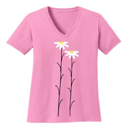 V-Neck-Tee-pink-daisiesW