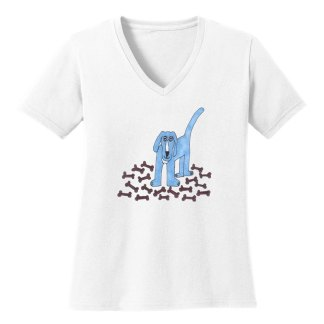 V-Neck-Tee-white-blue-dog
