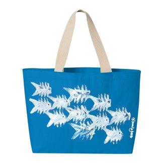 Tote-turquoise-primative-fish
