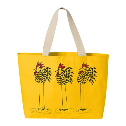 Tote-yellow-3-chickens
