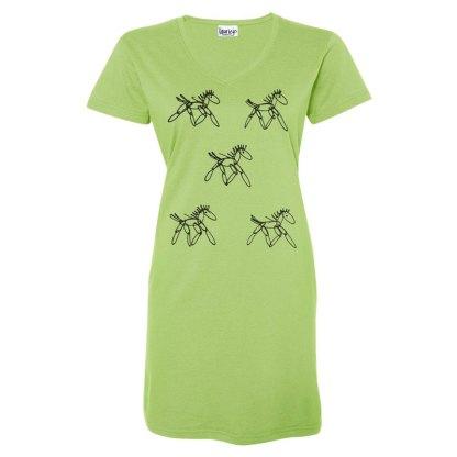 t-dress-lime-running-horses