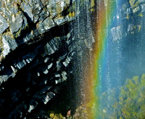 Rainbow in the waterfall