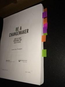 BE A CHANGEMAKER manuscript