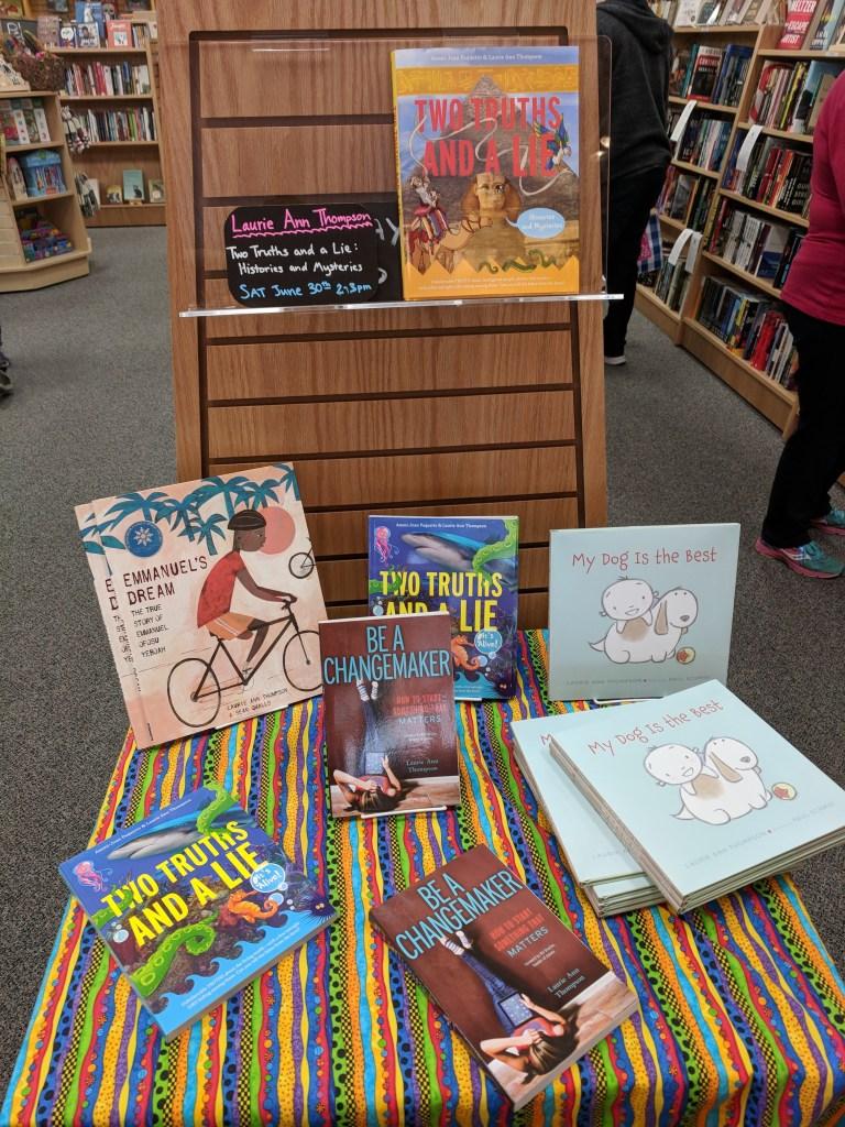 Bookstore endcap display