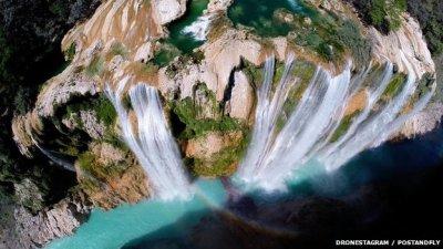 The Tamul waterfall in Mexico