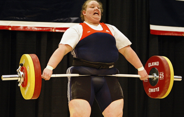 Holley Mangold during the snatch in the 2012 Olympic Trials for Women's Weightlifting at the Greater Columbus Convention Center in Columbus, March 4, 2012. (Dispatch photo by Kyle Robertson)