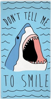 open-mouthed shark saying
