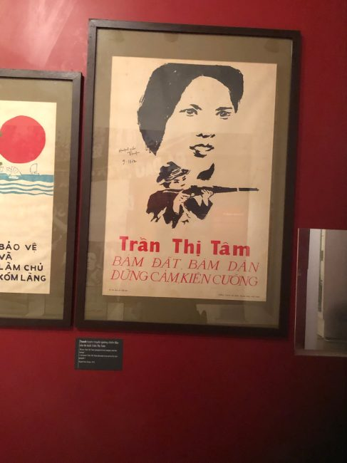 Brave Tran Thi Tam, devoted to her people and her nation.