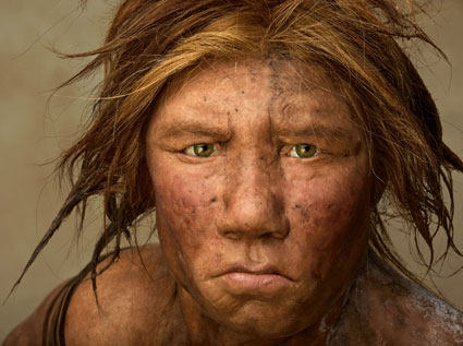 first reconstruction of a Neanderthal created using evidence from fossil anatomy and ancient DNA