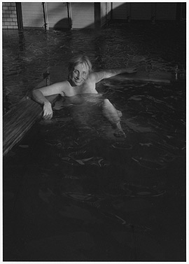 Laurie's portrait of Rebecca Jennison in the hot springs pool