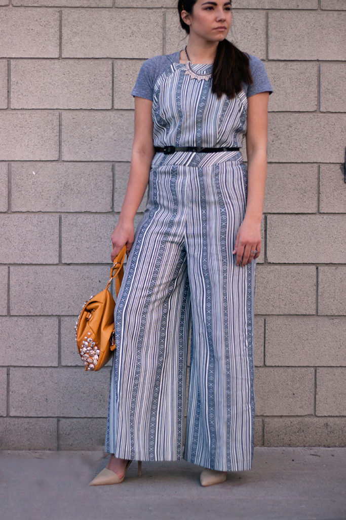 2a55e0ff5 ... '70s Fashion Trend: Decoding the Seventies Style · seventies outfit.  rocksbox necklace. gray jumpsuit