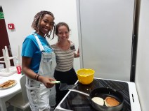 Making American Pancakes for Young Women's