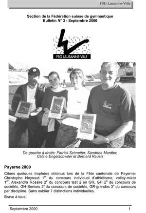 Journal 2000 – Septembre