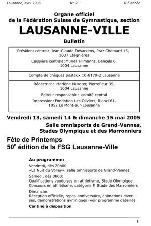 Journal 2005 – Avril