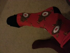 Reindeer Christmas socks!