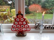 The Advent candle and wooden tree decoration from Holland
