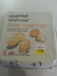 Eggs with a best before date of my birthday - squeee!