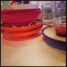 Empty dishes at Yo Sushi!