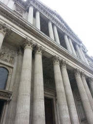 The imposing front of St Paul's