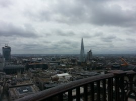 The Shard with some storm clouds
