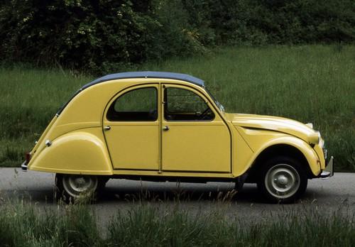 citro u00ebn 2cv special jaune c u00e9drat  1975