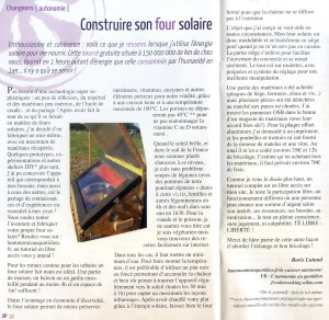 Article Four Solaire Greenouille