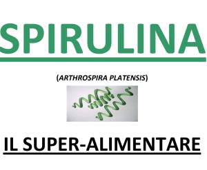 spirulina in italiano