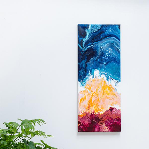 Shore, groot kunstwerk, acryl op doek
