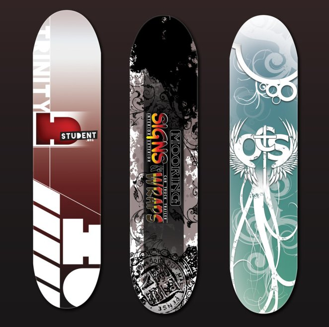 Skateboard Uses: Showcase Of 25+ Cool Skateboard Deck Designs