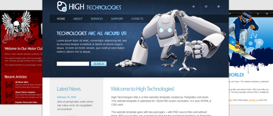 Download Free HTML5 Website Templates