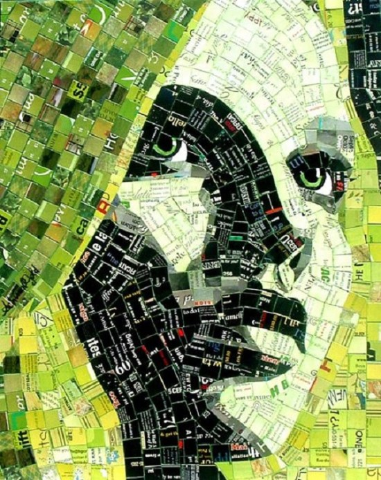 30 mindblowing examples of paper mosaic portraits