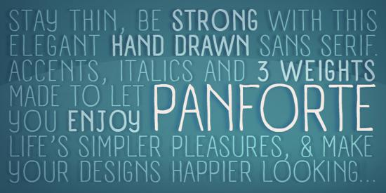 panforte complete family fonts for free download