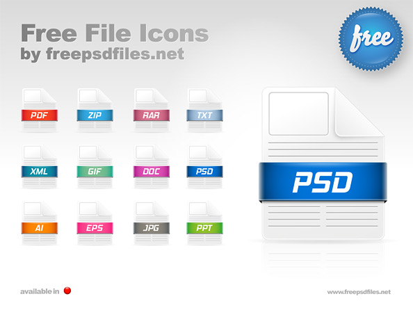 12 free psd file icons! template