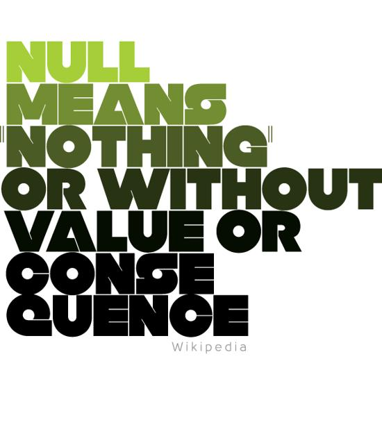 null free font for download