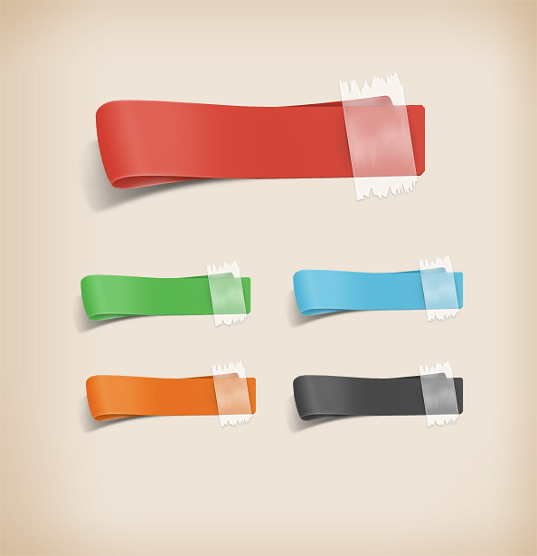 4 free psd ribbon template for free