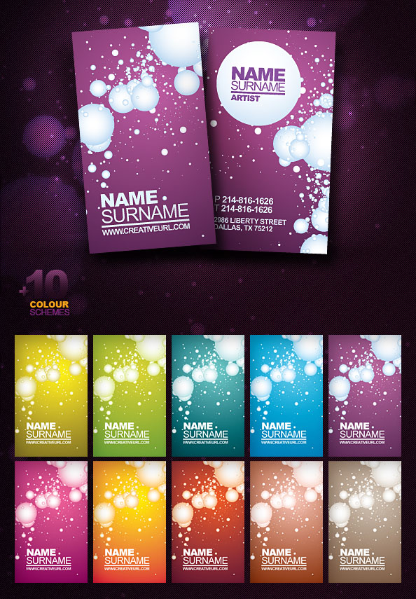 free psd business card template for download