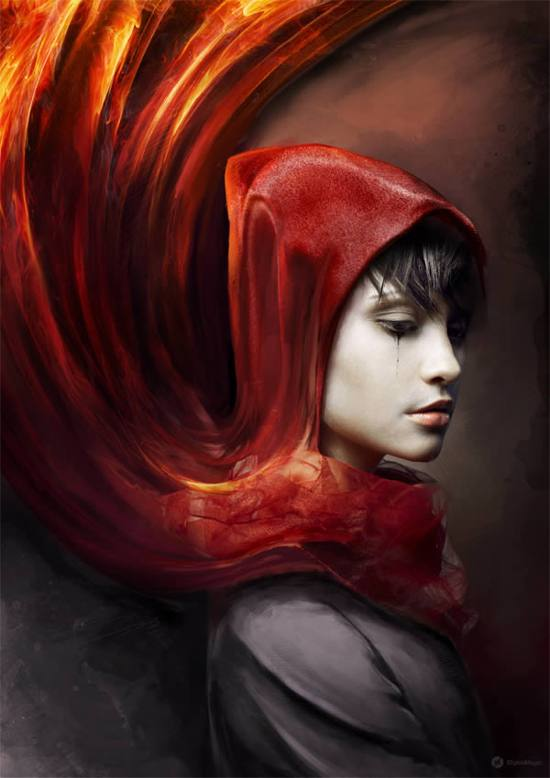Photoshop Tutorial! Create a Red Riding Hood Themed Photo Manipulation