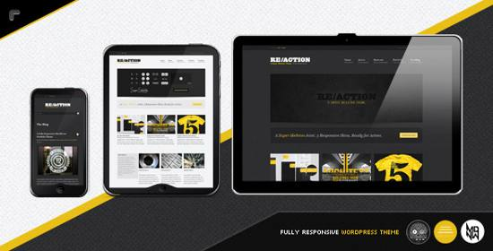 reaction wp! responsive wp theme