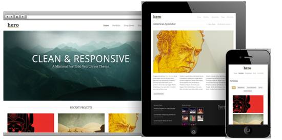 clean and responsive wordpress theme