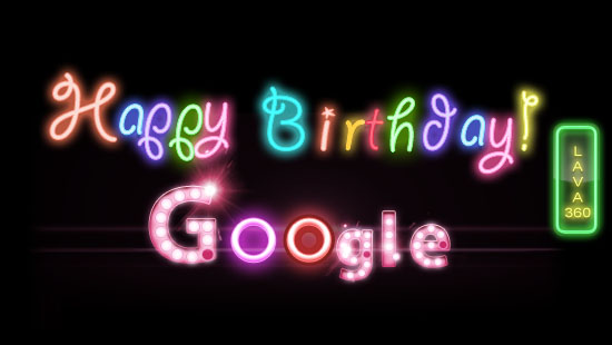 Happy birthday google Lava360.com