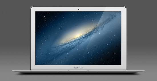 13-inch Apple MacBook Air PSD files for free download