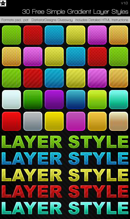 simple gradient Layer Style