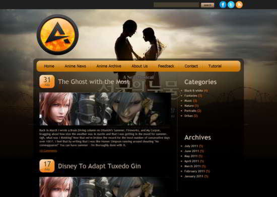 Attractive HTML5 Template